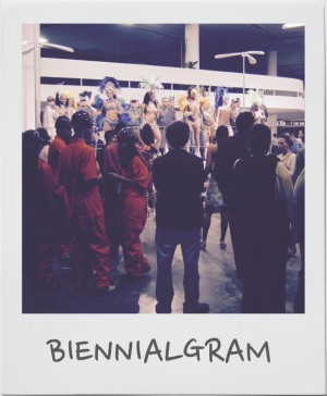 View of Nikos Charalambidis' Carnival Pause (2006) at the 27th São Paulo Biennial