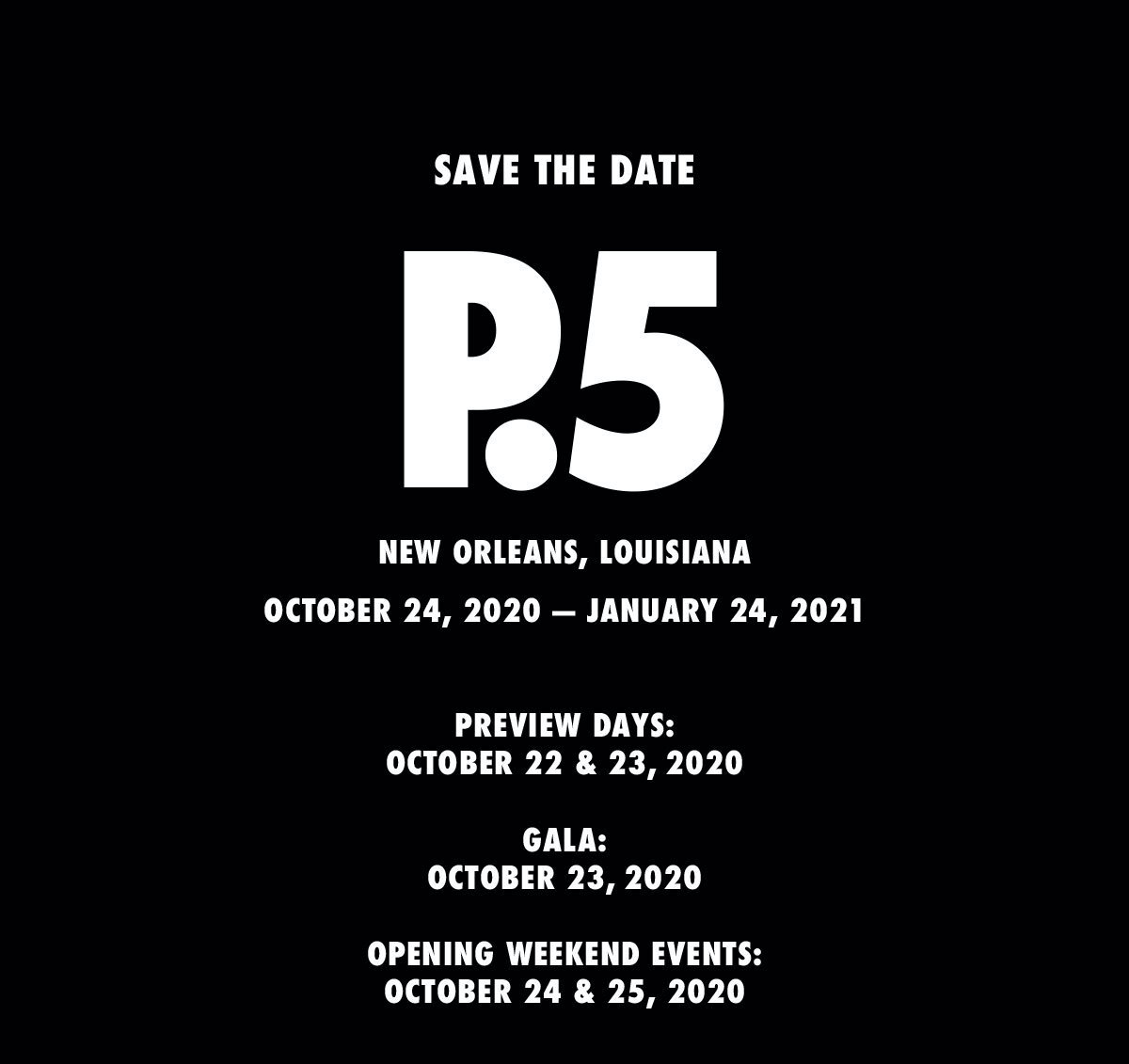 Events In New Orleans October 2020.Prospect 5 Yesterday We Said Tomorrow Biennial Foundation